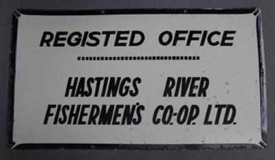 Sign, Registed Office Hastings River Fishermen's Co-op Ltd; 2016.48