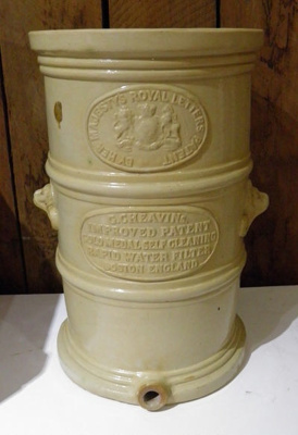 Water Filter; G Cheavins; 1890s; 1929