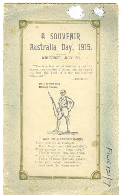 Australia Day Souvenir Card; 1915; 197