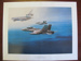 Painting print of RAAF FA-18 Hornets re-fuelling mid-air.; TAM2012.1231