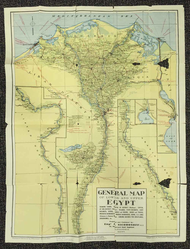 General Map Of The Lower Upper Egypt Engr A Nicohosoff N G S