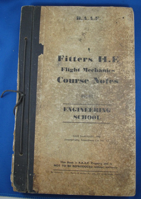 Book- RAAF Fitters II E Course Notes; Morris and Walker Pty.Ltd; 1943; TAM2012.29