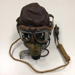RAF C-type Flying Helmet with Wiring Loom Plug, Microphone Jackplug and Earphones, RAF Type G Oxygen Mask and Oxygen Mask Microphone 1943 Pattern, Goggles Type MkVIII; TAM2014.73