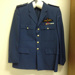 Wing Commander Peter William Mahood DSO: RAAF Dress Uniform Jacket, Trousers, Wing Commander Epaulettes, Ribbon Bar and buttons attached; Commonwealth Government Clothing Factory, Kentish Clothes; 1971; TAM2014.58