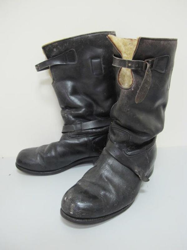 fleece lined black leather flying boots bedggood tam2013