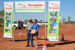 Mt Walker Fun Run Under 16 Girls winner Tayla Hiller with Councillor Sean O'Neill, Hughenden 2012; Flinders Shire Council; 17 June 2012; 2012-255