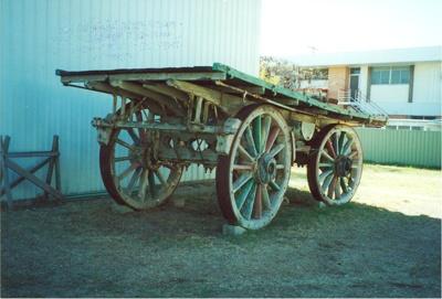 Restored wool wagon, Hughenden 2001; Murdoch, Colleen; 2001; 2012-62