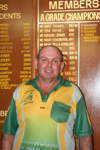 Des Gunn in front of the Hughenden Golf Club Honour Board, 2010; Melissa Driscoll; 10 October 2010; 2012-357