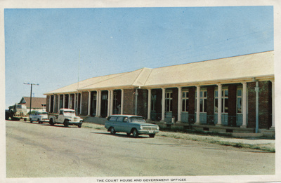 Courthouse and government offices, Hughenden, 1970s; Unidentified; 2011-159