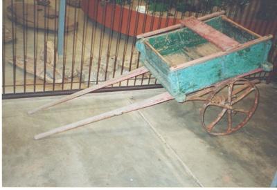Goat cart with bridle, Hughenden 2001; Murdoch, Colleen; 2001; 2012-65