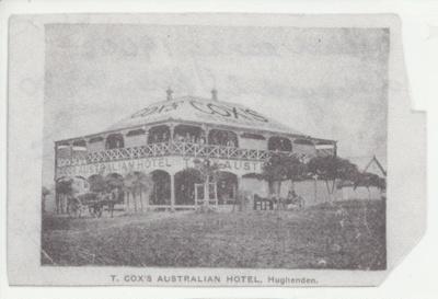 T. Cox's Australian Hotel, Hughenden; Unidentified; 2011-79