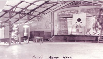 Inside Page's Royal Hall, Hughenden, prior to 1935; Unidentified; 2011-210