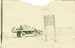 Truck loaded with fencing posts on Poseidon-Walkcege Road; Unidentified; ca.1900 - 1920s; 2012-57