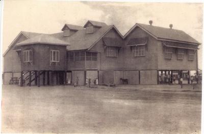 Children playing outside the Hughenden State School, Hughenden, 1930s; Unidentified; 2011-152
