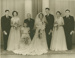 Wedding portrait of Colleen Tunny and Graham Murdoch with bridal party, Townsville 1954; City Studios, Townsville; August 1954; 2013-10
