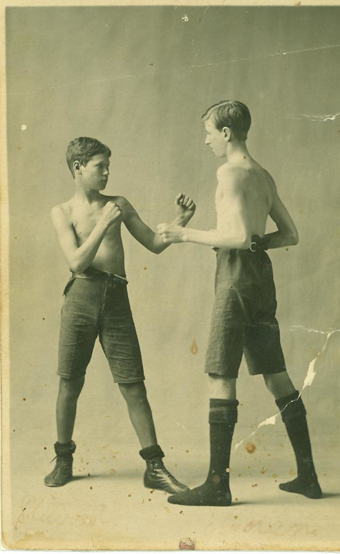 Images Of Boys Painted Bedrooms: Two Boys Boxing, 1925; Unidentified; 1925; 2012-193 On EHive