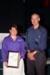 Vivian Finlay with Mayor Brendan McNamara at the 2012 Australia Day Awards presentation, Hughenden; Melissa Driscoll; 26 January 2012; 2012-377