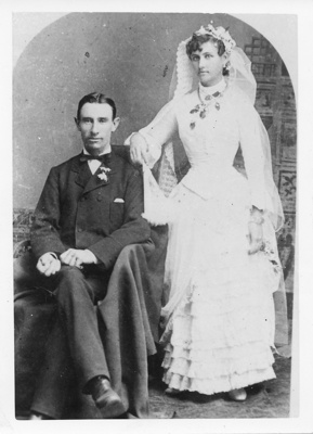 Wedding portrait of John T McLaren and Mary McDougall McLean, 1887; 1887; 2011-306