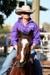 Lyndsey Schultz on horseback at the 2011 Hughenden Campdraft; Melissa Driscoll; 26 August 2011; 2012-335