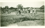 Decorated bicycles on the way to a procession, Hughenden, 1920s?; Unidentified; 1920s?; 2012-10