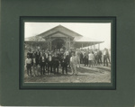 Group of men outside Lands Office, Hughenden, Queensland, ca. 1910s - 1930s; Unidentified; ca.1910s - 1930s; 2011-370