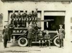 Photograph [Mataura Volunteer Fire Brigade, 1920s]; Cotterell, H.R. (Harry); 1925-1930; MT2018.3.2