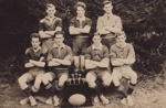 Photograph [Mataura Rugby Football Club, Seven a Side Team, 1927]; unknown photographer; 1927; MT2017.20.1