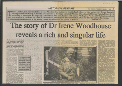 Newspaper Article; an in-depth article by Trevor L...