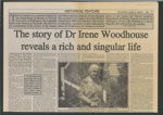 Newspaper article, Dr Irene Woodhouse; Landers, Trevor (Mr), The Ensign (Gore and Districts); 1998; MT2012.14.3