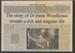 Newspaper article, Dr Irene Woodhouse; Landers, Trevor (Mr); 1998; MT2012.14.3