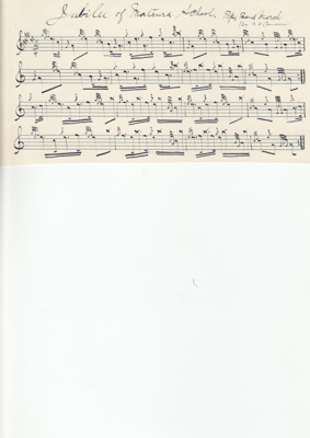 Music Score; 'Jubilee of Mataura School' a march w...