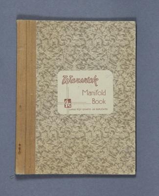 Secretary's Book; Mataura Athletic Society Corresp...