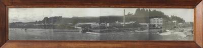 Photograph, framed [Mataura Paper Mill, Mataura River, Mataura Falls, 1925]; Clayton, Charles (Gore); 1925; MT2011.185.428