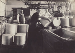 Photograph, 12 of 19, Mataura Dairy Factory Album [Loading Cheese Rounds]; unknown photographer; 1927; MT2012.139.12