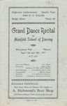 Programme, Dance Recital; Manifold School of Dancing; 16.04.1937; MT2012.95.2