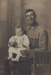 Photograph [Walter Wassell with daughter June]; Mora Studio, The (Gore); 1910s; MT2011.185.242