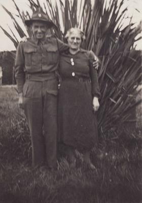 Photograph [W. Bristow and Mrs T. Kubala]; unknown photographer; 1940s; MT2011.185.273