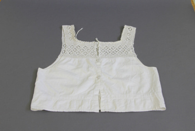 Camisole; a white cotton camisole with a diamond p...