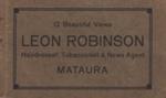 Album, postcards [Leon Robinson]; unknown photographer; 1932-1933; MT2012.5.4