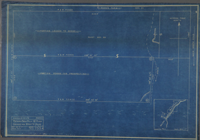 Survey blueprint; Mataura Paper Mills O/C Mines Ge...