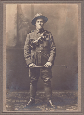 Photograph [Driver John McGregor Grierson]; Mora Studio, The (Gore); 1916-1918; MT2014.18.5