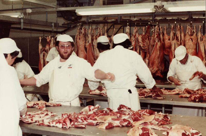 Photograph [Mutton Trimming Tables, Mataura Freezing Works]; Green,Trevor;  24.11