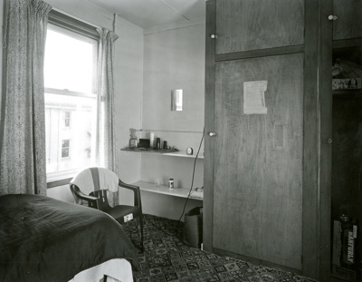 Black and white photograph of Billy's room in the ...