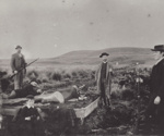 Photograph [Shooting party at the Wyndham Rifle Range]; unknown photographer; 1880s-1900s; MT2011.185.232