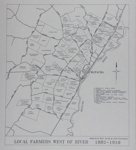 Map of Mataura Farm Locations [Showing Farmers West of the River, 1882-1910]; Department Survey and Land Information; 1990; MT2014.44.2