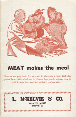 Cookery book; ' Meat makes the meal', a paperback ...