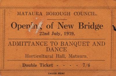 Invitation ; Mataura Ensign; 22.07.1939; MT2015.12