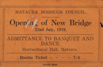 Invitation ; Mataura Ensign; 22.07.1939; MT2015.12