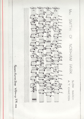 Music Score; 'Mrs. Smith of Norham Park' a slow ma...
