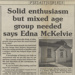 Newspaper article, Mataura & Districts Historical Society; The Ensign (Gore and Districts); 01.10.1994; MT2012.14.9